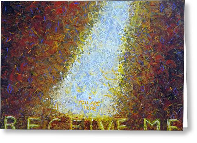 Provider Greeting Cards - Prophetic Message Sketch 21 GOD MEETS YOU WHERE YOU ARE Greeting Card by Anne Cameron Cutri