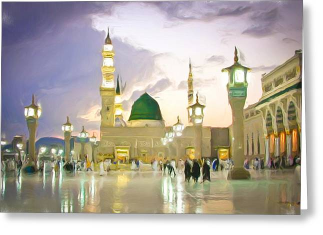 Sacred Greeting Cards - Prophets Mosque Greeting Card by Tom Gowanlock