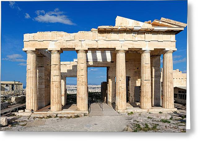 Propylaia - Greece Greeting Card by Constantinos Iliopoulos