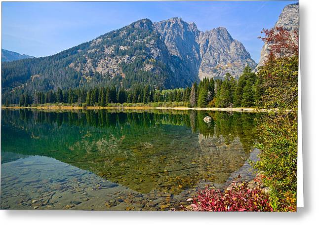 Prospectors Mountain Reflections Greeting Card by Greg Norrell