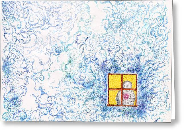 Prospects Drawings Greeting Cards - Prospects Of Illumination Greeting Card by Andrew Zeutzius