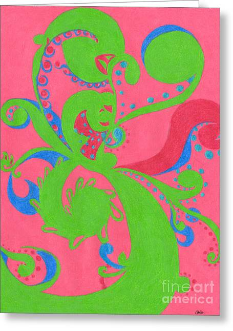 Wealth Drawings Greeting Cards - Prosperity Greeting Card by Kim Sy Ok
