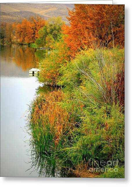 Yakima Valley Greeting Cards - Prosser Autumn Docks Greeting Card by Carol Groenen