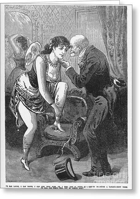 1880s Greeting Cards - PROSTITUTION, c1880 Greeting Card by Granger