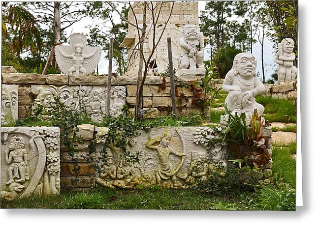 Garden Statuary Greeting Cards - Protectors Greeting Card by Christine Stonebridge