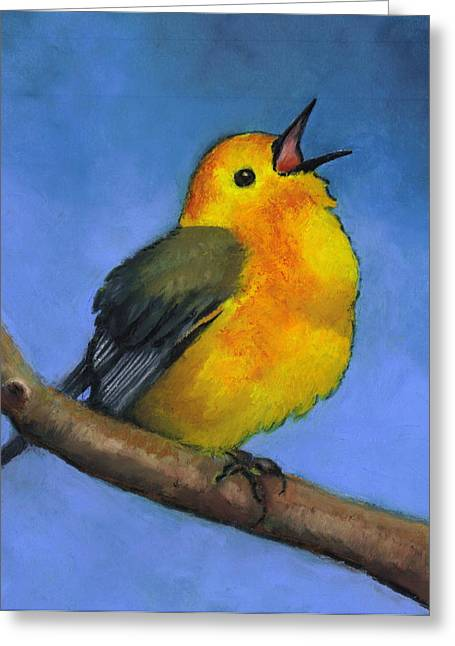 Bright Pastels Greeting Cards - Prothonotary Warbler Greeting Card by Joyce Geleynse