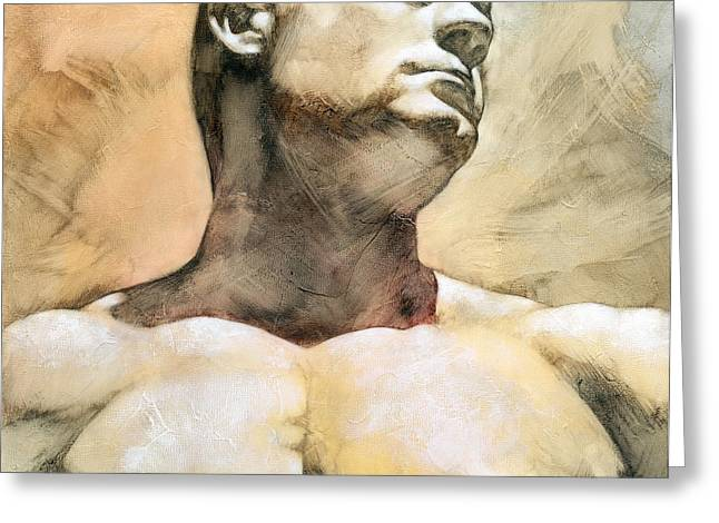 Male Mixed Media Greeting Cards - Proud 3 Greeting Card by Chris  Lopez