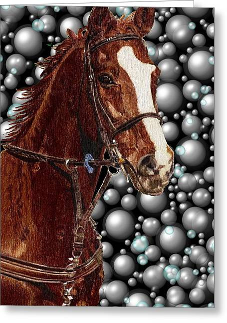 Proud With Bubbles Greeting Card by Patricia Barmatz