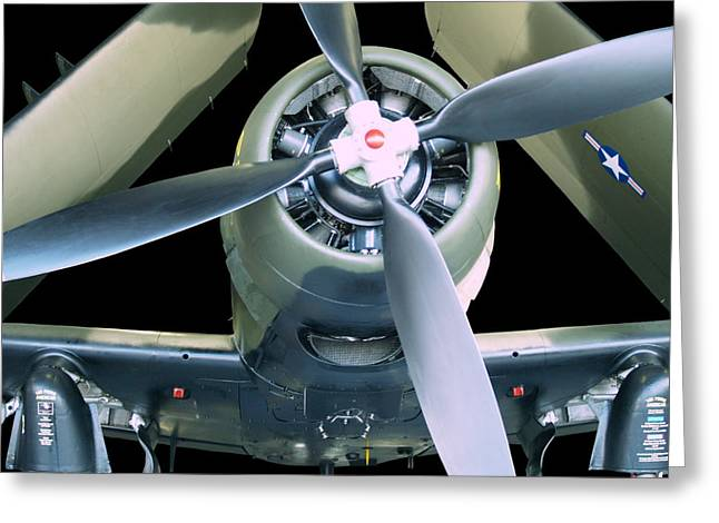 Aircraft Radial Engine Greeting Cards - ProudAmerican Greeting Card by Robert Trauth