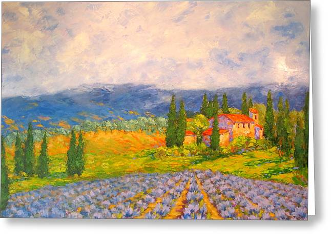 Provence Village Greeting Cards - Provence Greeting Card by Barrett Edwards