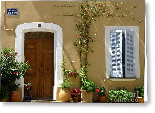 Provence Village Greeting Cards - Provence Door 3 Greeting Card by Lainie Wrightson