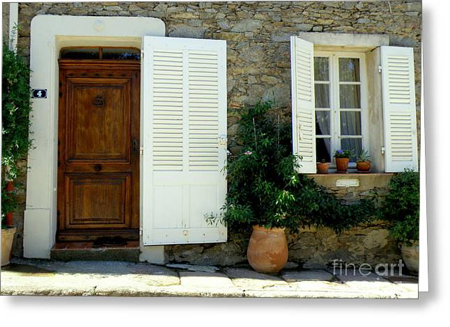 Lainie Wrightson Greeting Cards - Provence Door Number 4 Greeting Card by Lainie Wrightson
