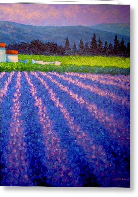 Landscape Posters Greeting Cards - Provence Greeting Card by John  Nolan