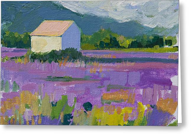 Brushtrokes Greeting Cards - Provence Greeting Card by Marianne  Gargour