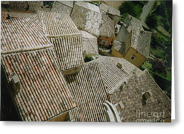 Provence Rooftops Greeting Card by Pamela Canzano