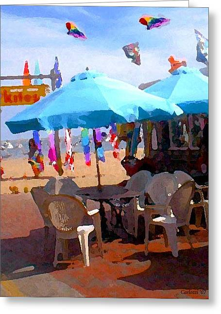 Ptown Greeting Cards - Provincetown Kites Greeting Card by Martha Carlozzi