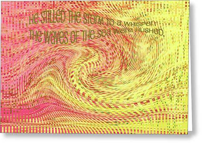Courage Mixed Media Greeting Cards - Psalm 107 Greeting Card by Bonnie Bruno