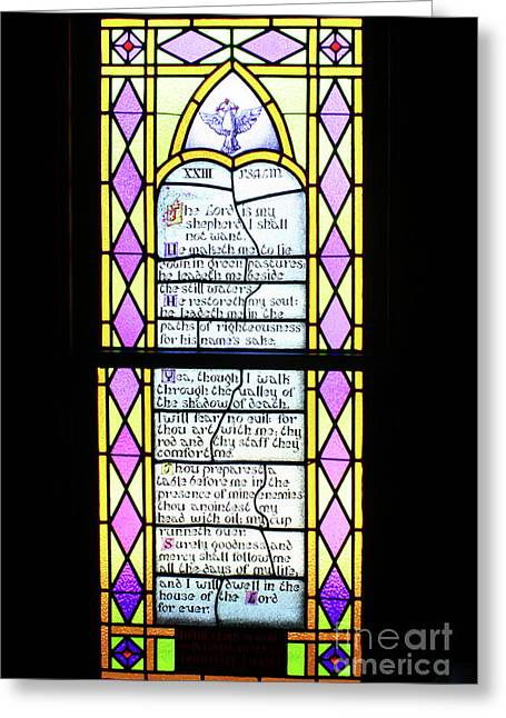 Bible Quotes Greeting Cards - Psalm 23 Greeting Card by Joy Tudor