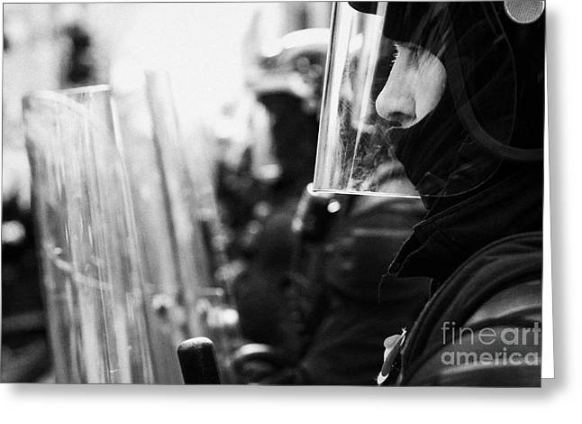 Police Officer Greeting Cards - Psni Northern Ireland Riot Police Greeting Card by Joe Fox