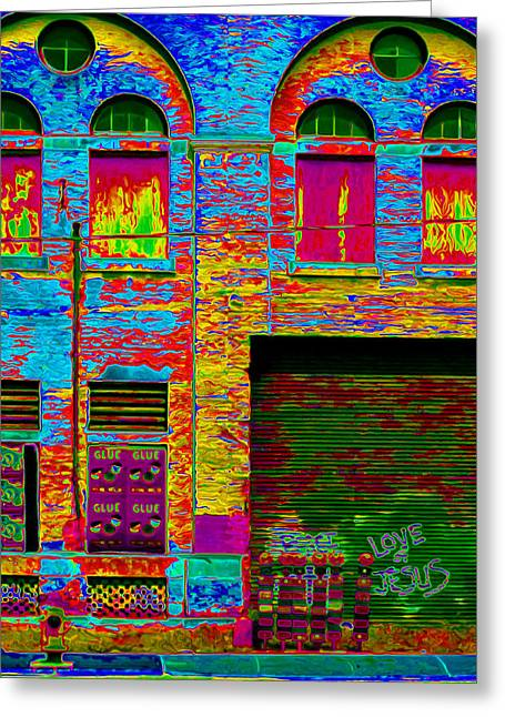 Police District Greeting Cards - Psychadelic Architecture Greeting Card by Andrew Fare