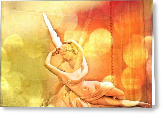 Psyche Revived By Cupid's Kiss Greeting Card by Marianna Mills