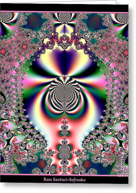 Hallucination Greeting Cards - Psychedelic Dreams Fractal 46 Greeting Card by Rose Santuci-Sofranko