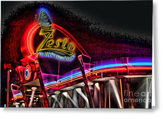 Photographers College Park Greeting Cards - Psychedelic Zestos Greeting Card by Corky Willis Atlanta Photography
