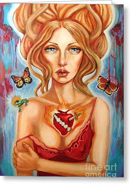 Greek Butterflies Greeting Cards - Psyches Abandonment Greeting Card by Tammy Mae Moon