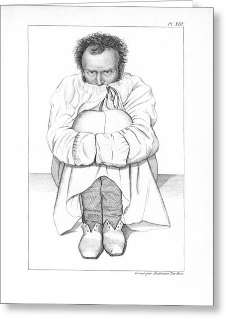 Psychiatric Greeting Cards - Psychiatric Patient, 19th Century Greeting Card by King
