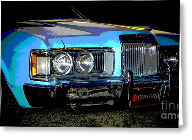 Tricked-out Cars Greeting Cards - Psycho Cougar Greeting Card by Chuck Re