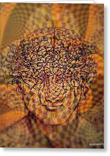 Mental Crisis Digital Art Greeting Cards - Psycho Traumatic Hypnotic Greeting Card by Paulo Zerbato