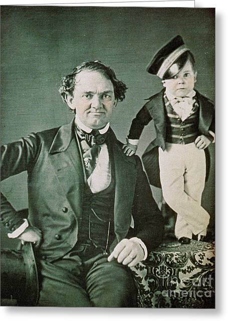 Notable Greeting Cards - P.t. Barnum, American Showman Greeting Card by Photo Researchers