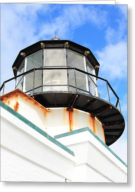 Bonita Point Greeting Cards - Pt Bonitas Lighthouse CA Greeting Card by Wingsdomain Art and Photography