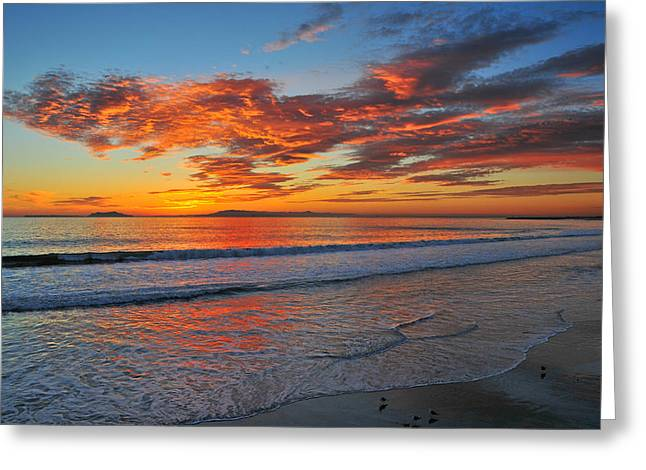 Ventura California Greeting Cards - Pt. Hueneme Sunset 2 Greeting Card by Lynn Bauer
