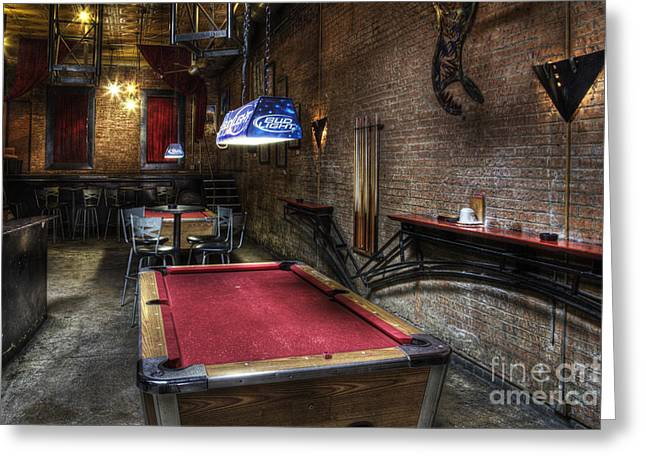 Empty Pool Greeting Cards - Pub Greeting Card by Jeremy Woodhouse