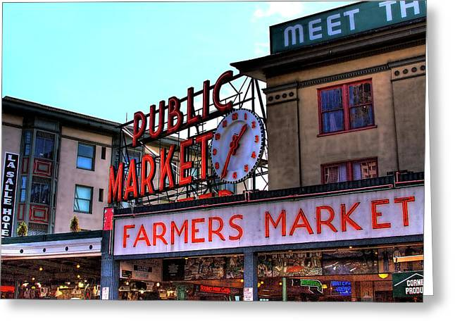 David Patterson Greeting Cards - Public Market II Greeting Card by David Patterson