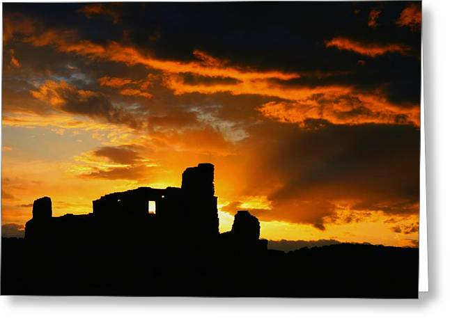 Recently Sold -  - Gloaming Greeting Cards - Pueblo Abo Ruins Greeting Card by Dean Leh