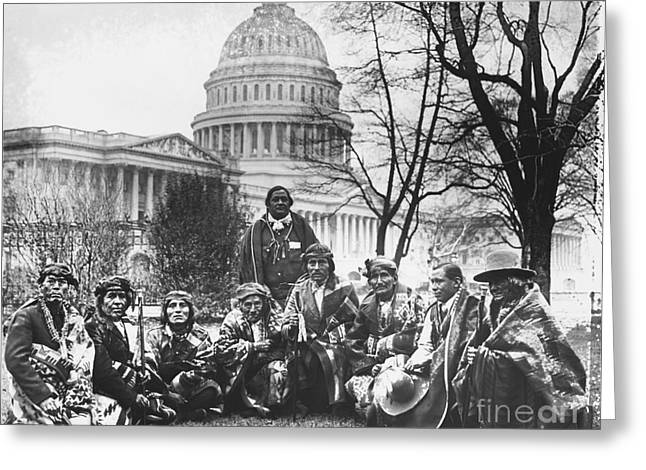 Us Senate Greeting Cards - Pueblo Indians Greeting Card by Photo Researchers