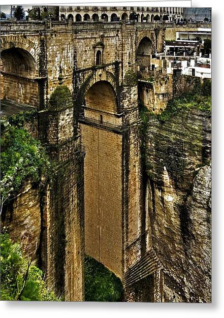 Architektur Greeting Cards - Puente Nuevo - Ronda Greeting Card by Juergen Weiss