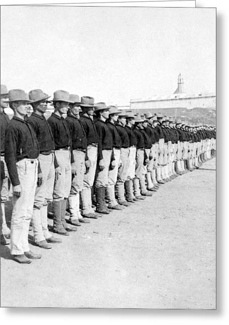 Puerto Rican Greeting Cards - Puerto Ricans serving in the American Colonial Army - c 1899 Greeting Card by International  Images