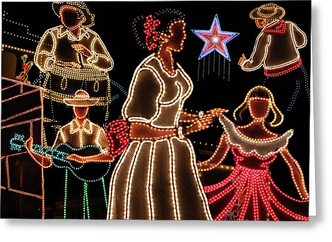 Rincon Digital Art Greeting Cards - Puerto Rico Fiesta De Luz en Hatillo Greeting Card by Carlos Reyes
