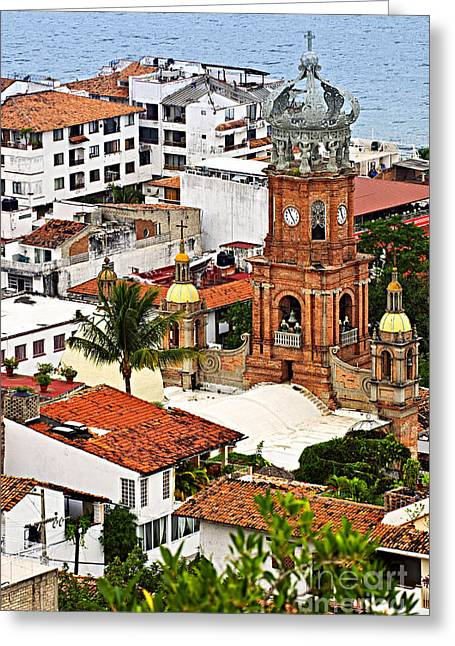 Rooftop Photographs Greeting Cards - Puerto Vallarta Greeting Card by Elena Elisseeva