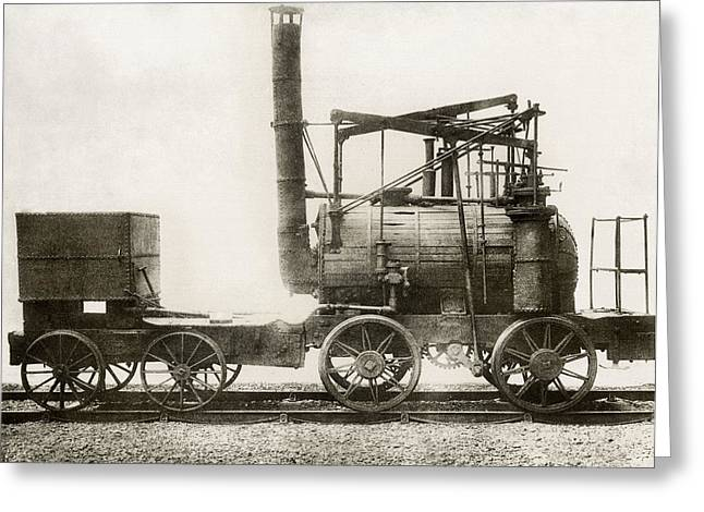 Colliery Greeting Cards - Puffing Billy Locomotive Greeting Card by Miriam And Ira D. Wallach Division Of Art, Prints And Photographsnew York Public Library