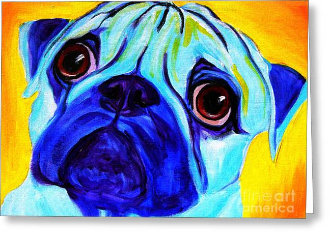 Alicia Vannoy Call Greeting Cards - Pug - Sweetie Pug Greeting Card by Alicia VanNoy Call