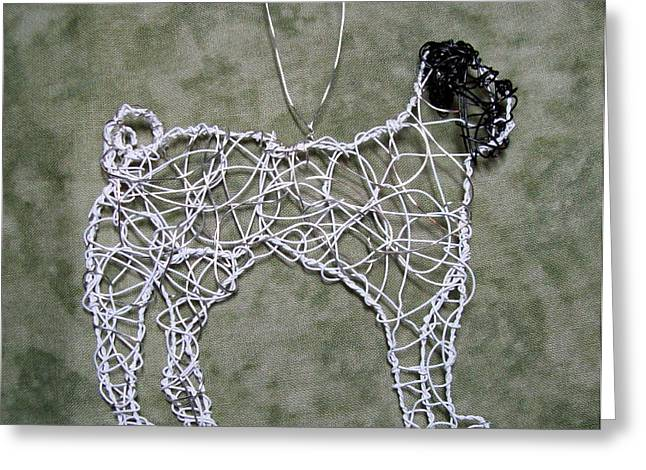 Recently Sold -  - Silver Sculptures Greeting Cards - Pug Greeting Card by Charlene White