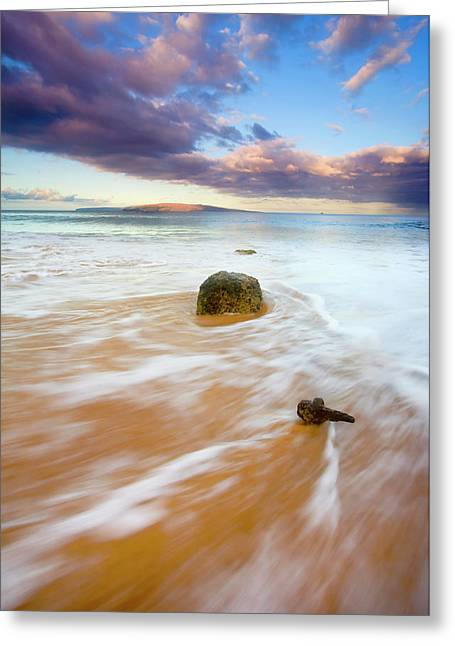 Canoe Photographs Greeting Cards - Pulled to the Sea Greeting Card by Mike  Dawson