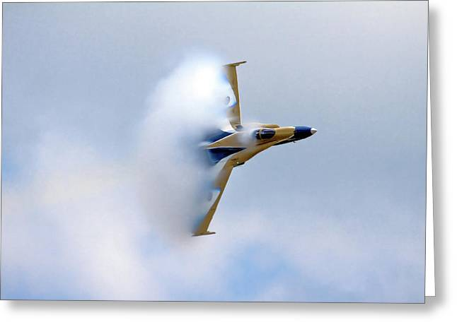 F-18 Photographs Greeting Cards - Pulling Vapor Greeting Card by Bill Lindsay