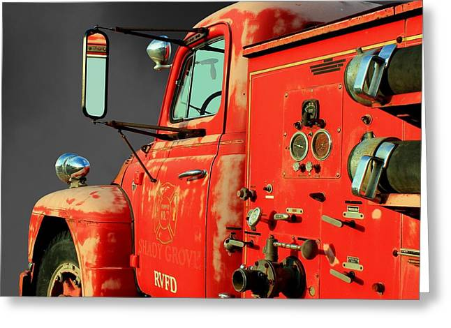 Betty Northcutt Greeting Cards - Pumper No. 2 - Retired Greeting Card by Betty Northcutt