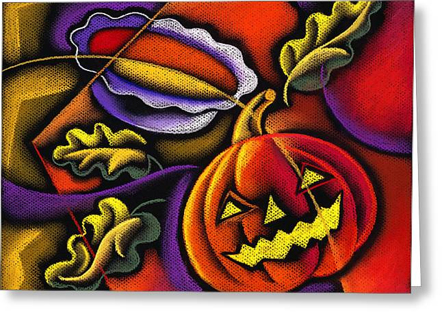 Colors Of Autumn Greeting Cards - Pumpkin fun Greeting Card by Leon Zernitsky