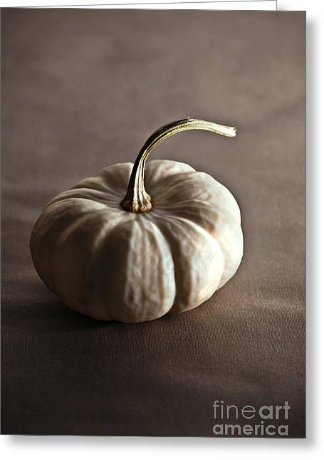 White Pumpkin Greeting Cards - Pumpkin Greeting Card by HD Connelly